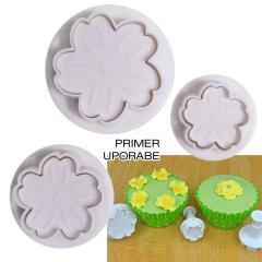 Modelčki Trobentice, Jeglič, Primule, 3 delni na vzvod, Cake Star
