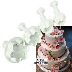 Modelčki za Češnjev Cvet, 4 delni na vzvod, Cake Star