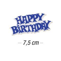 Topper za torto Happy Birthday 7,5 cm, Moder