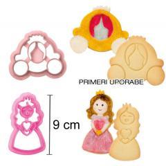 Modelčka kočija in princeska 9 cm, plastika