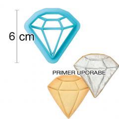 Modelček diamant 6 cm, plastika