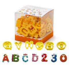 Modelčki za črke in številke, 36 delni, 2 cm
