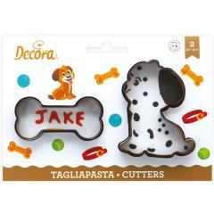 Modelčka kuža in pasja kost, 2 delni, Decora