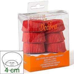 Papirčki za mini pite (košarice) 4x2 cm, Rdeči, 120 kom