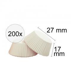 Papirčki za praline - BELI, 200 kom