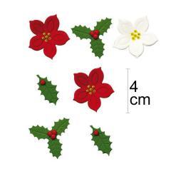 7 sladkornih dekoracij božične zvezde in bodike