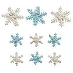 9 sladkornih FROZEN snežink
