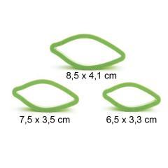 Modelčki za daljše listke, 3 delni, plastični