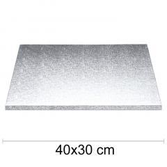 Podstavek 40x30cm, debelina 10mm – Srebrn