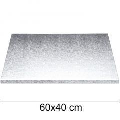 Podstavek 60x40cm, debelina 10mm – Srebrn