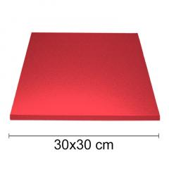 Podstavek 30x30cm, debelina 10mm – Rdeč