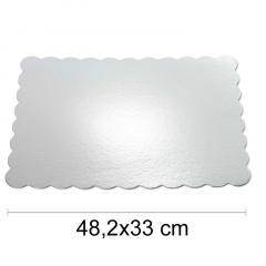 Podstavek 48x33cm, debelina 1,5mm – Srebrn