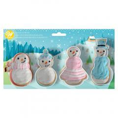 Modelčki 4 snežaki, Wilton