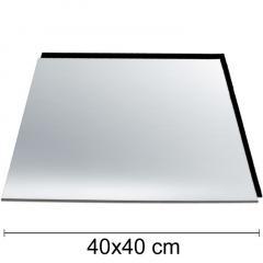 Podstavek 40x40cm, debelina 3mm – Srebrn-črn
