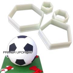 Modelčki peterokotnik za nogometno žogo, 4 delni