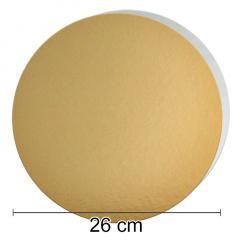 Zlat-srebrn mehkejši podstavek za torto 26 cm