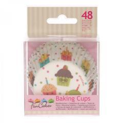 Papirčki za muffine PARTY, 48 kom, FunCakes