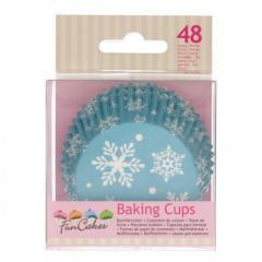 Papirčki za muffine SNEŽINKE, 48 kom, FunCakes