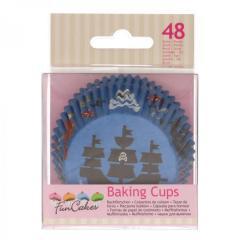 Papirčki za muffine PIRATI, 48 kom, FunCakes