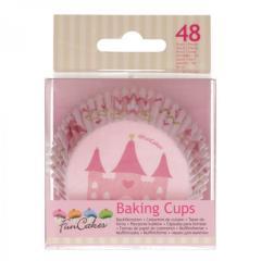 Papirčki za muffine PRINCESKA, 48 kom, FunCakes