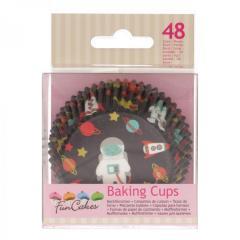 Papirčki za muffine ASTRONAVT, 48 kom, FunCakes