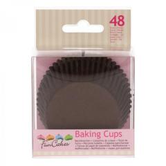 Papirčki za muffine RJAVI, 48 kom, FunCakes