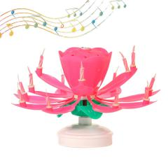 Svečka Glasbena Fontana, roza