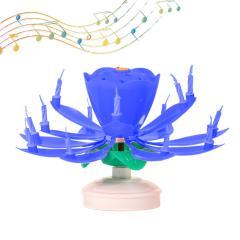 Svečka Glasbena Fontana, modra