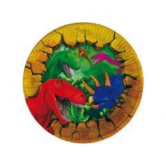 Papirnati krožniki Dinozavri 18 cm