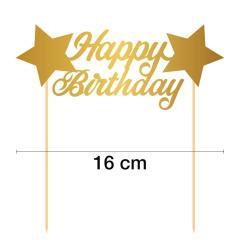 Topper za torto Happy Birthday št.4