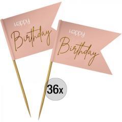 Dekoracija Happy Birthday (elegantno roza) 36 kom
