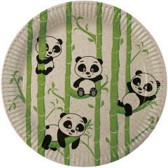 Papirnati krožniki Panda 23 cm, 8 kom