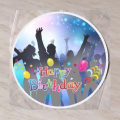 Hostija Happy Birthday 15 cm, št.2