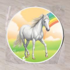 Hostija Konj, Bel 15 cm