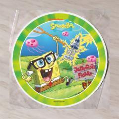 Hostija Spuži kvadratnik, Sponge BOB 15 cm, zelena