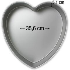 PME pekač srce 35,6 cm, višina 5,1 cm