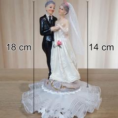 Figurica za torto - Srebrna obletnica poroke 1