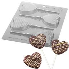 Silikomart plastičen modelček čokoladni srčki na palčki št.1