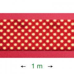 Dekorativni trak za obrobo torte (1 m) rdeč