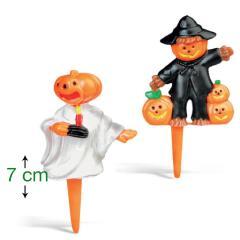 Noč čarovnic (Halloween) dekoracija na palčki (7 cm) 2 kom, št.1