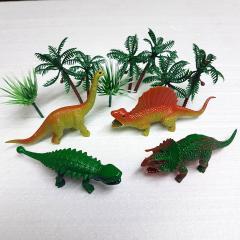 Komplet mini dinozavri za dekoracijo sladic, 6 delni