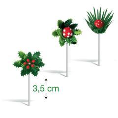 Božični trio za dekoracijo sladic (3,5 cm)