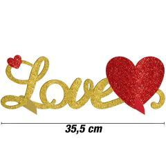 Love z bleščicami, namizna dekoracija 35,5 cm
