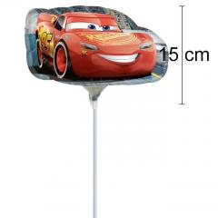MINI folija balon Cars, Strela Mcqeen 15 cm
