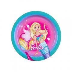 Papirnati krožniki Barbi 18 cm