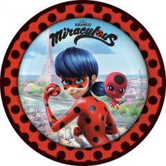 Papirnati krožniki Miraculous, Ladybug 23 cm