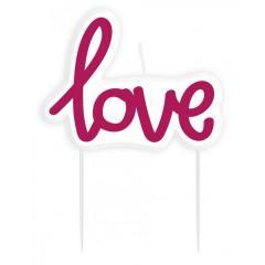 Svečka LOVE