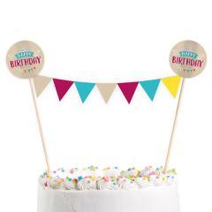 Topper za torto Happy Birthday št.2