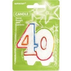 Barvna svečka za 40 let
