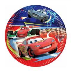 Papirnati krožniki Disney Cars II, Strela Mcqueen 19,5 cm